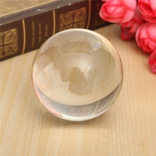 1Pcs 50mm Round Clear Translucent white Juggling Ball Crystal Ball Ornament Crafts Home Office Desktop Decoration Craft Gifts(China)