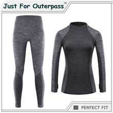 Just For Outerpass Brand 2017 New Winter Thermal Underwear Women Elastic Breathable Female HI-Q Casual Warm Long Johns Set(China)