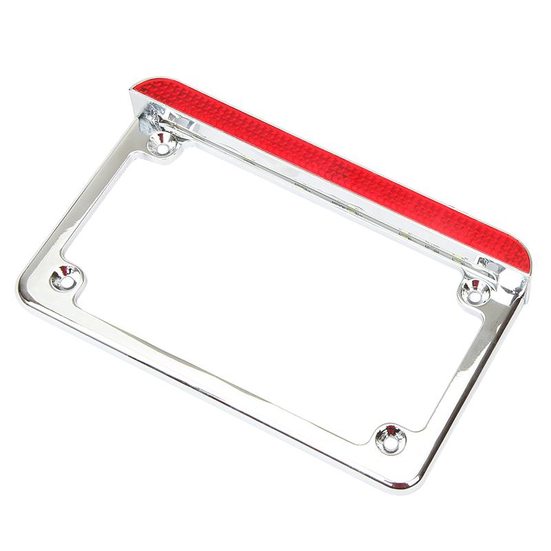 Universal Motorcycle Fender Eliminator License Plate Bracket And LED Taillight Accessory For Harley Honda Kawasaki Suzuki 6 inch<br>
