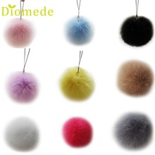 Best seller fashion Hot Rabbit Fur Ball Key Chains Mobile Phone Plug Backpack Bags Decorations Chaveiro 2017 Oct20