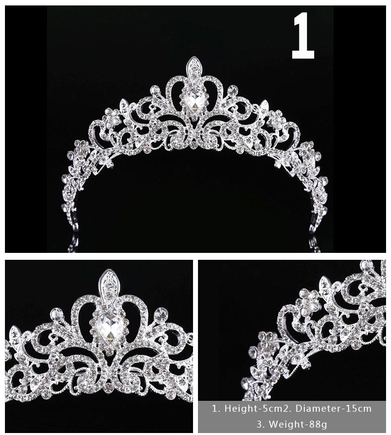Diverse Silver Crystal Bride tiara Crown Fashion Pearl Queen Wedding Crown Headpiece Wedding Hair Jewelry Accessories Wholesale 2
