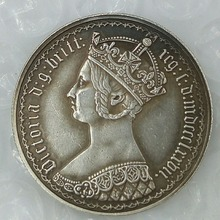 One florin 1870 Great Britain England UK United Kingdom 1 gothic silver coin