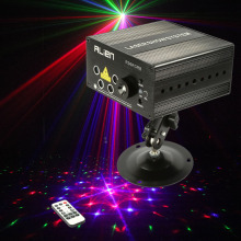 New Arrival Mini 9W RGB Laser Projector  Led Scanner Light  Pro Stage Lighting  Luces Discoteca With Remote Control