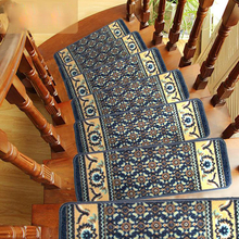Carpet manufacturer european-style classical stair mat footpad stair blanket free rubber(China)