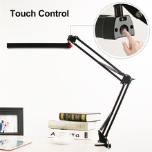 A16S 7W Metal LED Swing Arm Desk Lamp Dimmable Flexible Arm Lamp Clamp for Reading Office 3 Brightness 2 Color Modes Table Light(China)