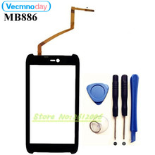 Vecmnoday 4.5''For Motorola AtRIX HD MB886 front outer glass touch screen with digitizer Free shipping +tools(China)