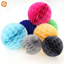 1PC 6''(15cm) Colorful Tissue Paper Lantern Honeycomb Ball For Home Garden Wedding & Birthday Party / Baby Shower Decorations