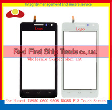 "High Quality 4.5"" For Huawei G600 Honor 2 U9508 G600 U8950D Touch Screen Digitizer Sensor Front Glass Lens Panel Black White"