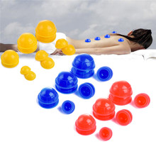 12 Pcs Travel Medical Mini Silicon Vacuum Cupping Cups Pain Stress Relive Body Massager Neck Back Massage Relaxation Health(China)