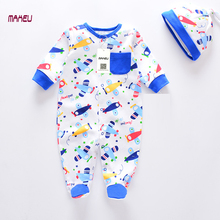 MaHeu Brand Baby Clothes 2017 New Fashion Cute Spring Baby Boy Girl Cotton Jumpsuits With Detached Cap Infant Baby Romper