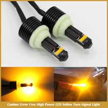 No error 1156 BAU15S PY21W P21W W21W T20 7440 7443 High Power 30W Yellow LED Flicker-free CANBUS Turn Signal Light Bulb(China)