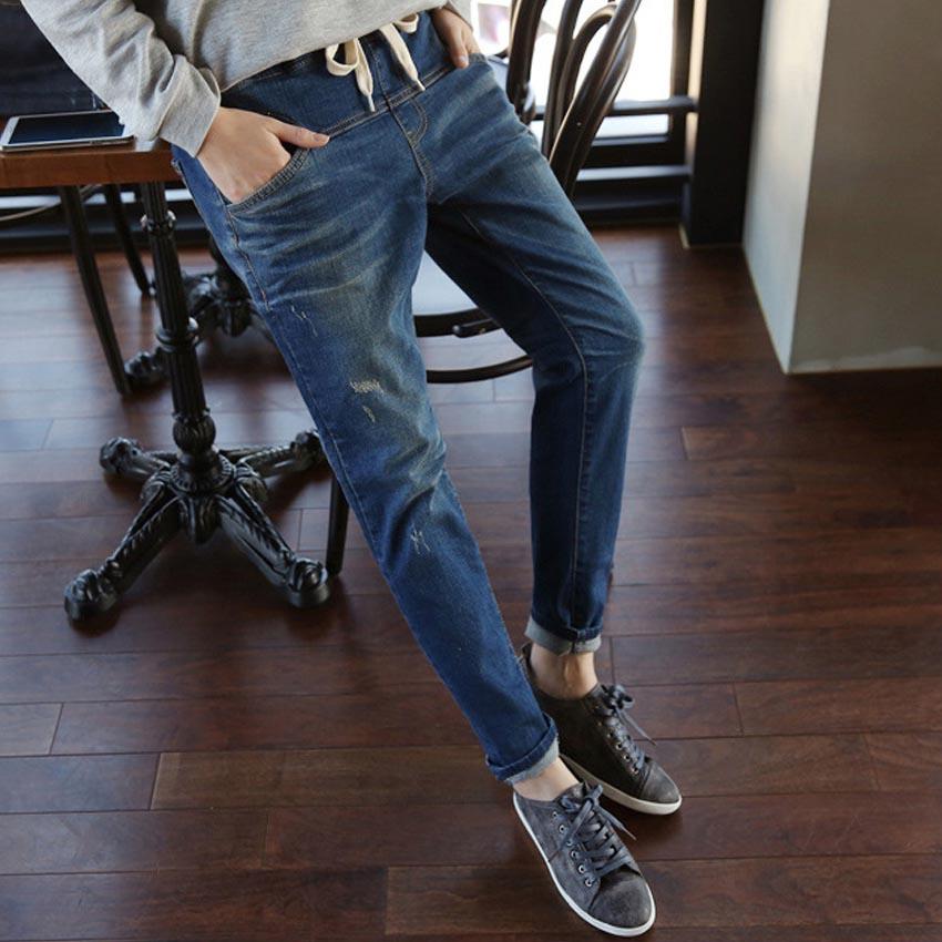 New 2017 Fashion Jeans Woman Casual Loose Harem Pants Slim Denim Jeans Womens Plus Size XL-5XL Pencil Trousers Feet PantsОдежда и ак�е��уары<br><br><br>Aliexpress
