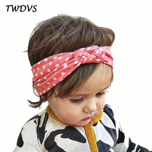 TWDVS Babe Hair Bands Printing Knot Hair Band Girls Elastic Cotton Headband Newborn Hair Accessories Kids Headwear Hairpins W146(China)