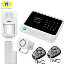 Golden Security G90B WFfi GSM Home Alarm System 2G Wireless Security Alarm SMS Alert alarm system PIR Sensor 110dB Sirens(China)