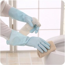 Waterproof Household Glove Warm Dishwashing Glove Water Dust Stop Cleaning Rubber Glove
