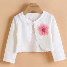 Hot Fashion Thin Cotton Cardigan For Girls Full-Sleeve Girls Cardigan Shrug 2-14T Girl Clothing Sweaters Spring Summer KC-1507