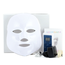 3/7 Colors Light Photon Electric LED Facial Mask Skin PDT Skin Rejuvenation Anti Acne Wrinkle Removal Therapy Beauty Salon(China)