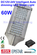 60W led street lights with Intelligent Auto dimming  DC12V/24V solar charge controller for solar lighting system