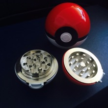 New 2016 Brand Aluminum Herb Pokemon Pokeball Tobacco Grinder Cigarette Lighter Supplies Accessories