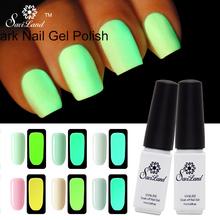 Saviland 1pcs Fluorescent Neon Glow In The Dark Light Luminous Gel Nail Art Nail Polish Esmalte Soak Off Gel Varnish