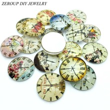 ZEROUP Glass Cabochon 10mm 12mm Mixed Round Photo Cameo Cabochon Setting Supplies for Jewelry Accessories 50pcs TP-006(China)