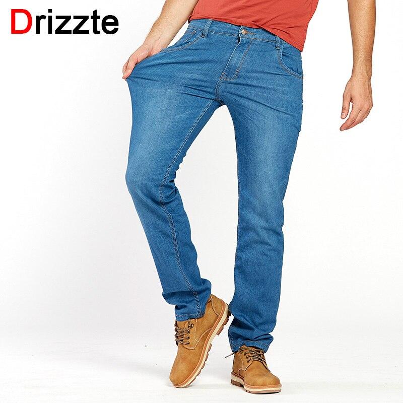 Drizzte Lightweight Stretch Jeans Mens Denim Summer light Blue Jeans Black Blue Jean Fashion 28-35-42 for MensÎäåæäà è àêñåññóàðû<br><br>