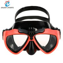 Professional Silicone Gear Scuba Diving Mask Equipment Waterproof Swim/Dive Glasses Snorkeling Mask with Camera Mount Men Women(China)