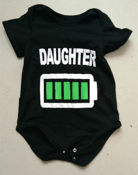 Family Matching Clothes 2017 Matching Mother Daughter Clothes Daddy Son Outfits Short Sleeve Print Batter T-shirt Baby Romper