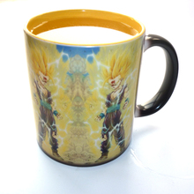 Drop shipping- Goku Super Saiyan God mug Changing color Coffee Mug Heat-sensitive Reactive Ceramic tea Cup Mug for friend gift