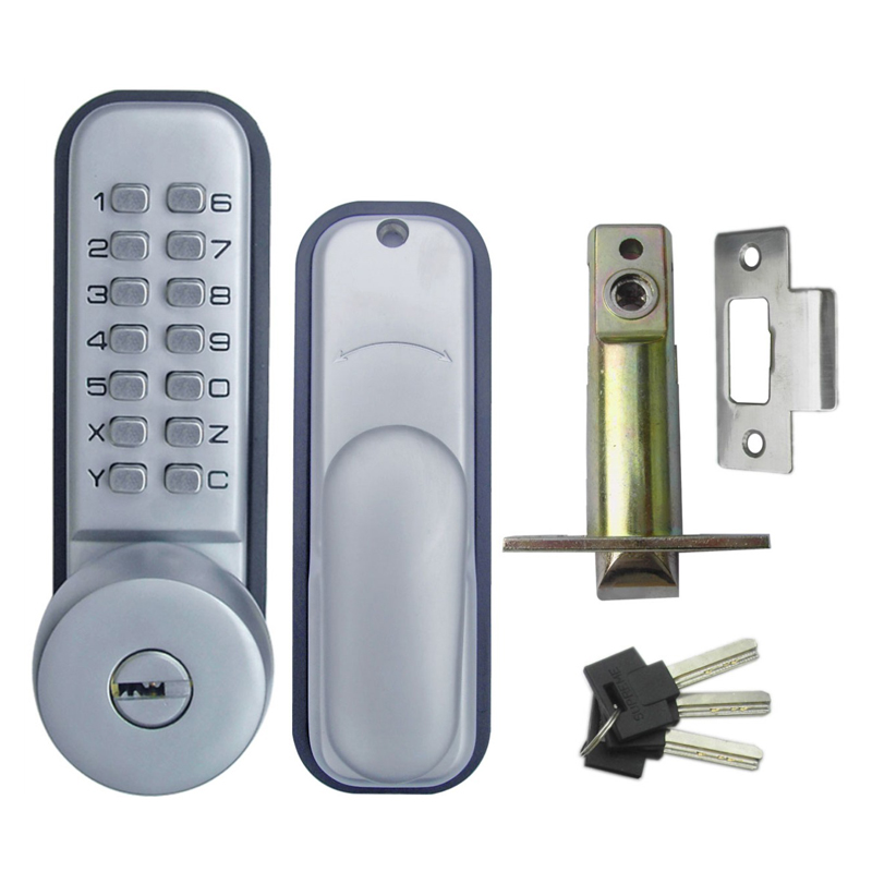 Digital Machinery Keypad Password Mechanical Code Door lock Stainless Steel Latch Zinc Alloy Silver 1737<br>
