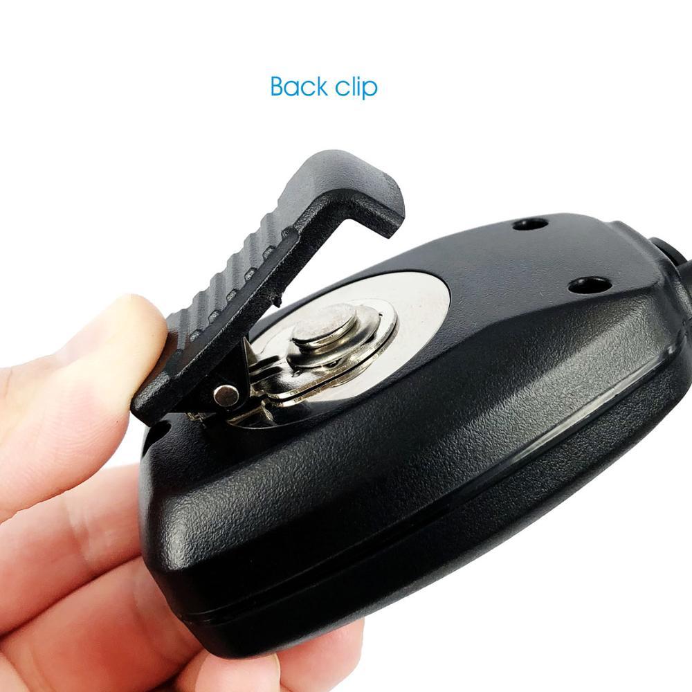 Metal Mask 2 Pin Speaker Mic for Baofeng Kenwood 10