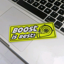 2 sizes Car Styling Turbo BOOST IS BEST Reflective Motorcycle Car Sticker Decals Viny yellow(China)