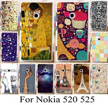 For Nokia Lumia 520 525 beautiful painted pattern hard back cover case new arrival custom phone case bag hood