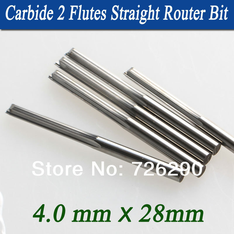 5pcs 4.0*28mm 2 Flute Straight Milling Cutters End Mill Cutter Tools For Woodworking<br><br>Aliexpress