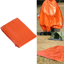 2.1*1.3m Camping Portable Emergency Blanket First Aid Survival Rescue Curtain Life-Saving Tent Tools Outdoor Survive Orange Tool(China)