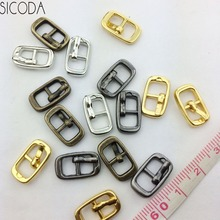 20pcs/lot 6mm DIY mini bjd dolls shoes buckle Metal button three lines cdoll diy clothes buckle pin buckle mini bag buckle(China)