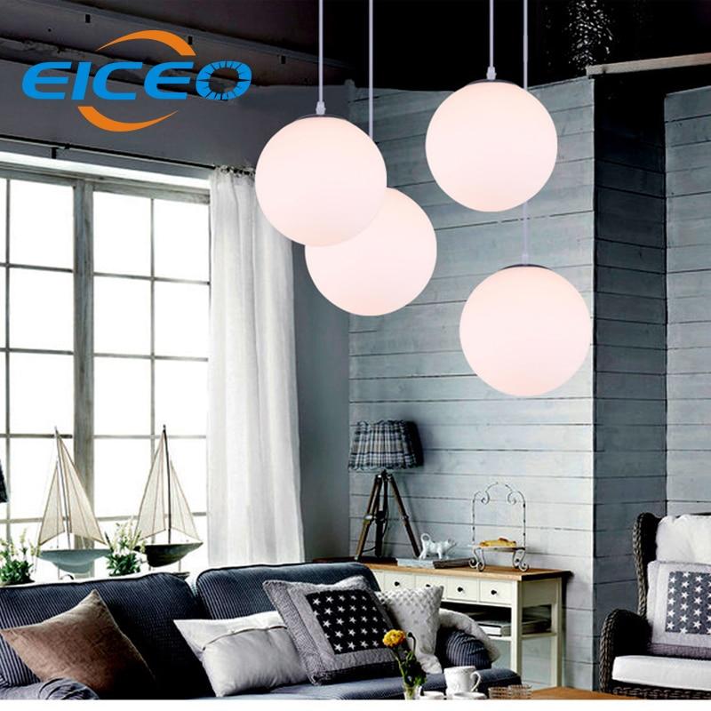 (EICEO) Clothing Store Aisle LED Chandelier Restaurant Chandelier Lighting Bar Cafe Glass Ball Lamps modern pendant led light<br>