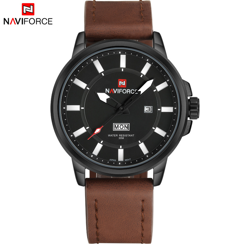 Brand NAVIFORCE Mens Quartz Watch Men Luminous Hour Date Clock Male Military Sports Watches Casual Wristwatch Relogio Masculino<br><br>Aliexpress