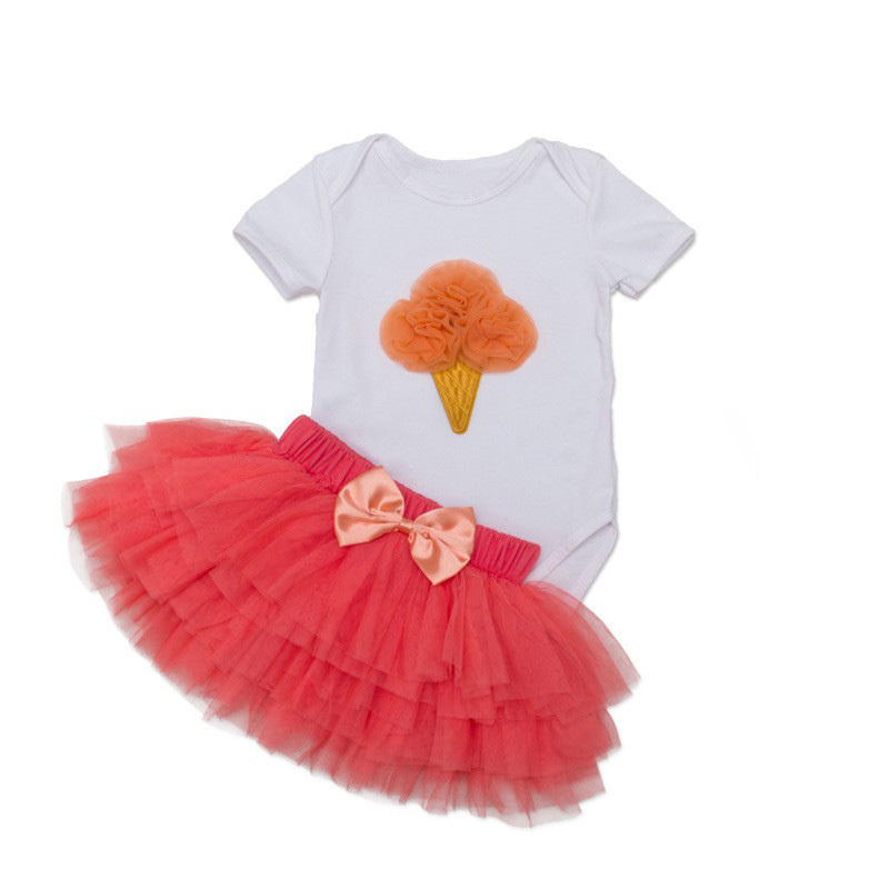 Tutu Baby Birthday Set Summer Short Sleeve Roupas Infantis Bebes 1st Birthday Outfit+Tutu Pettiskirt Dress Party Clothing Sets 15