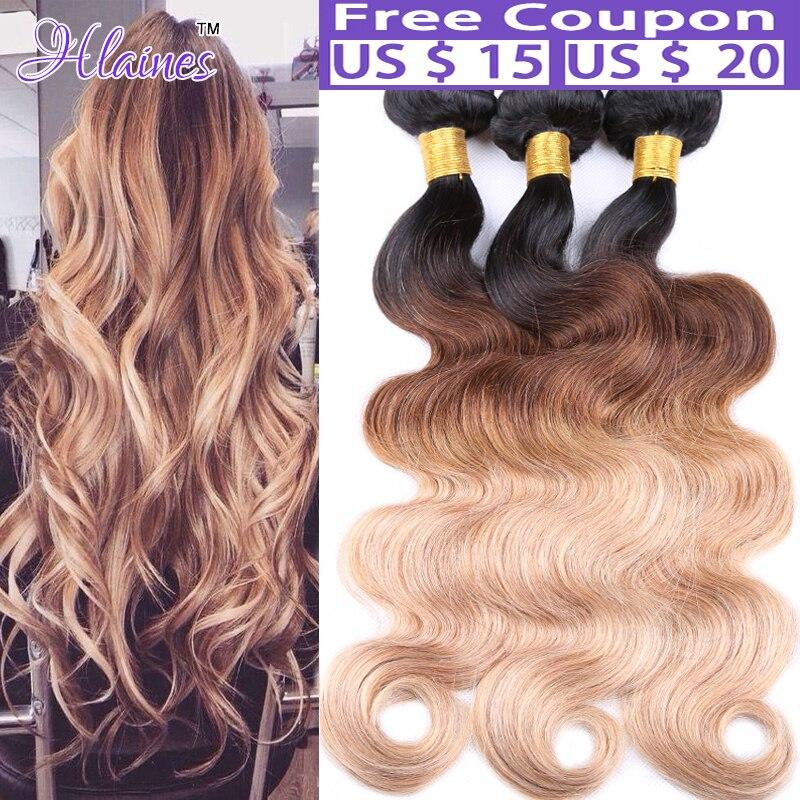 Rosa Hair ProductsOmbre Brazilian Virgin Hair Body Wave Ombre Brazilian human hair Weave 7A Ombre Virgin Hair Extension bundles<br><br>Aliexpress