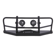 Professional RC Car Front Bumper with Lampshade Metal Replacemnet Bumper Light Defender for 1/10 RC4WD D90 Axial SCX10