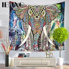 Elephant Mandala Tapestry Hippie Wall Hanging Tapestries Bedspread Beach Towel Yoga Mat Blanket Table Cloth 210*150/150*130cm