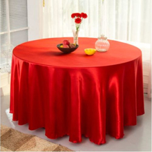 "10pcs/lot Red Satin Table Cover for party with large size 120"" 305cm(China)"