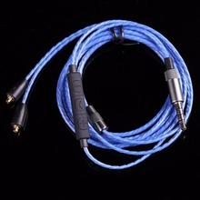 Earphone Upgrade MMCX Cable with Microphone for Shure SE215 SE315 SE425 SE535 SE846 UE900 4N OFC 3.5mm Stereo Connector