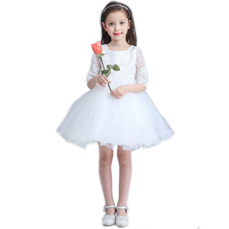 2017 latest high quality childrens birthday flower girl dress wedding dress Half  dress girls princess tutu dresses<br><br>Aliexpress