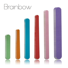 Brainbow 60pcs/Pack Nail Files 150/150 Wood Sandpaper Double Sided Nail Art Manicure Sanding File Buffer Grits Nail Polish Tools(China)