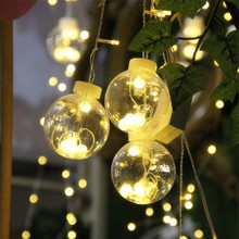 3m 16Wishing Balls 120LED Lamps Window Curtain Icicle Light String Light Home Decoration for Christmas Wedding Party 110/220V