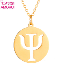 New Gold/Silver Choker Chain Necklace Jewelry Medical Nurse Collier Femme Phycologist Symbol Necklaces Pendants Mujer Bijoux(China)