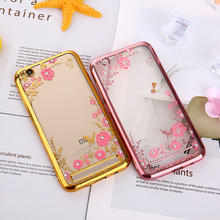 Buy KMUYSL Case Xiaomi Redmi Note 5 Pro Silicone Bling Diamond Clear Cover Soft TPU Flower Case Xiomi Redmi 5A 4A 4 Pro 3S for $1.25 in AliExpress store