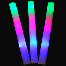 10pcs/lot Flash toy multi color flash light toy led foam stick led foam baton glow stick for wedding party concert props